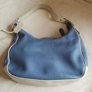 COACH 100% Leather. Blue & White. With Dust Bag